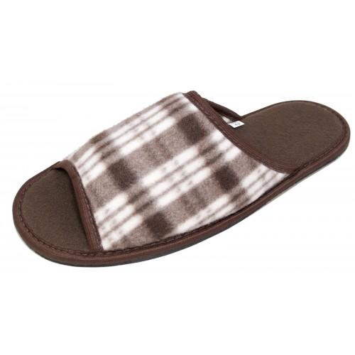 Туфли домашние на вырубной подошве мужские