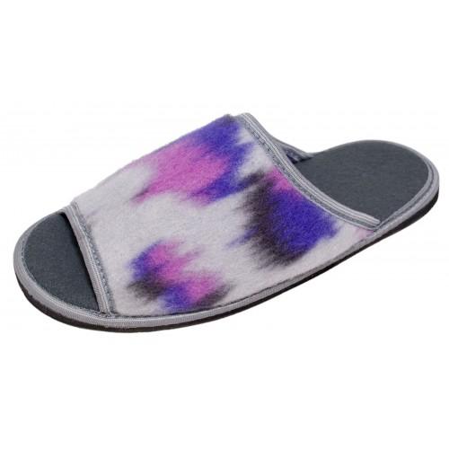 Туфли домашние на вырубной подошве женские