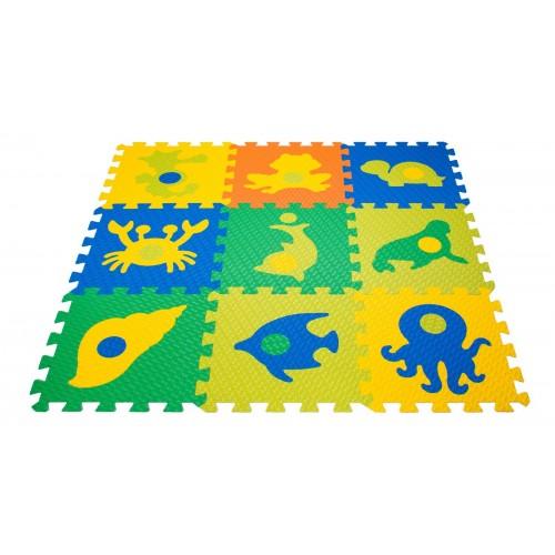 Мягкий детский конструктор «покрытие напольное морской мир»